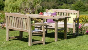 Zest4Leisure Emily Table and Bench Set