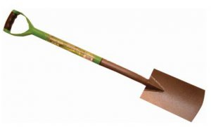 Green Blade Border Spade with Plastic Coated Steel Shaft