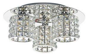 Dar Agneta 3 Light Flush Polished Chrome