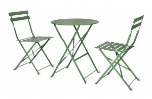 Garden Trading Rive Droite Bistro Set, Small in Greengage