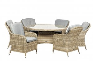 Royalcraft Wentworth 6 Seater Round Imperial Dining Set