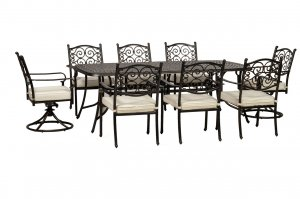 Royalcraft Versailles 8 Seater Dining Set with 2 Swivel Chairs