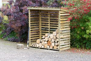 Zest4Leisure Large Log Store With Back