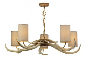 David Hunt Antler 5 Light Pendant with Shades