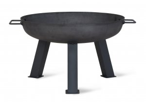 Garden Trading Foscot Fire Pit, Small - Raw Metal