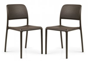 Nardi Bistrot Chairs (Set of 2) - Coffee