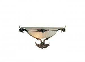 Searchlight 1 Light Antique Brass/Glass Wall Bracket