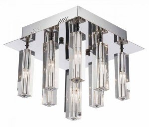 Dar Galileo 9 Light Semi Flush Polished Chrome LED