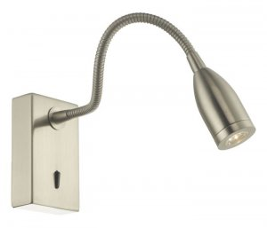 Dar Tadley Wall Light Satin Nickel LED