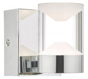 Dar Susa Wall Light Polished Chrome & Acrylic LED Bathroom IP44