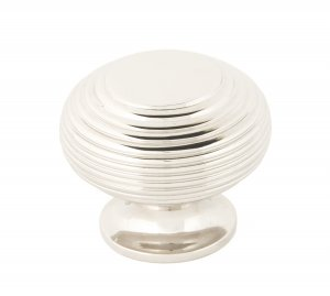 Polished Nickel Beehive Cabinet Knob 40mm