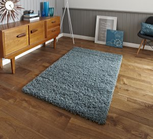 Think Rugs Vista 2236 Teal Blue - Various Sizes