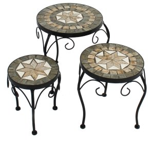 Summer Terrace Brava Plantstand Set of 3 Low