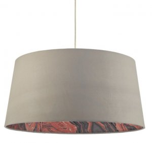 Dar Dolores Easy Fit Pendant Faux Silk Grey