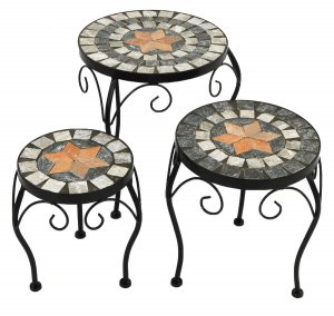 Summer Terrace Nova Plantstand Set of 3 Low