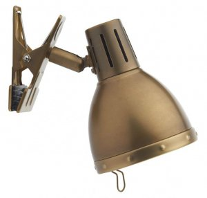Dar Osaka 1 Light Clip On Spot Antique Brass