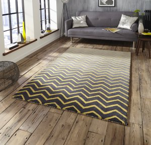Think Rugs Spectrum SP22 Grey/Yellow