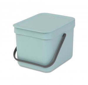 Brabantia Sort & Go 6 Litre Waste Bin in Mint