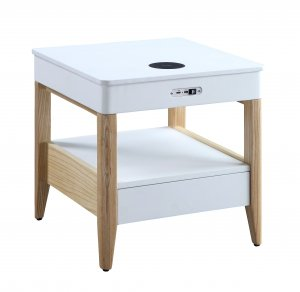 Jual San Francisco Bedside/Lamp Table with USB & Wireless Charging