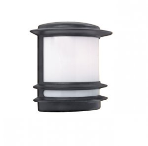 Searchlight Aluminium Half Wall Light