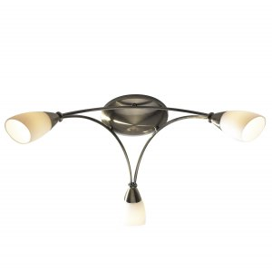 Dar Bureau 3 Light Semi Flush Antique Brass