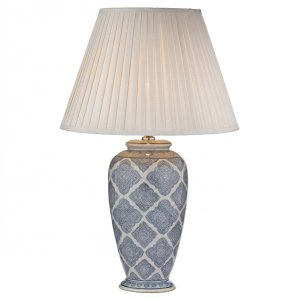 Dar Ely Table Lamp Blue/White - Base Only