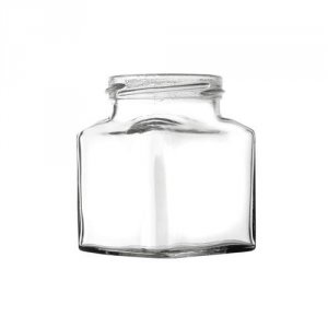 Square Glass Jar with Gold Twist Lid 200g