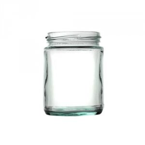 Panelled Glass Food Jar with Gold Twist Cap 300ml