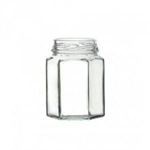 Hexagonal Glass Jar with Twist-off Lid 55ml