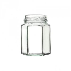 Hexagonal Glass Jar with Twist-off Lid 100ml