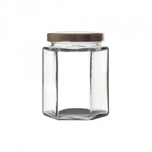Hexagonal Glass Jar with Twist-off Lid 227ml