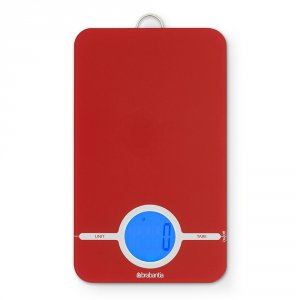 Brabantia Digital Kitchen Scales - Passion Red