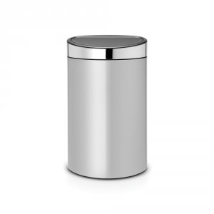 Brabantia Touch Bin 40 Litre Metallic Grey with Brilliant Steel Lid