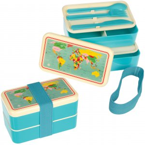 Rex World Map Adult Bento Box