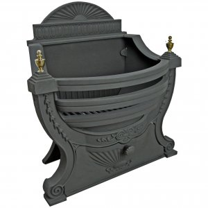 Manor Reproductions Victorian Fire Basket - Black - 59