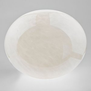 Dar Arcus Table Lamp White & Glass