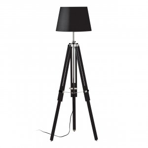 Jasper Tripod Black Floor Lamp