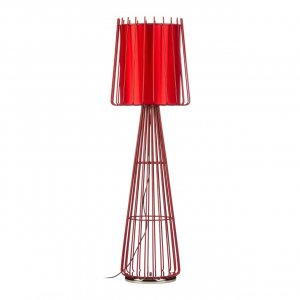 Aria Red Metal Floor Lamp