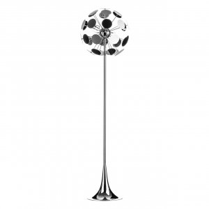 Disc Chrome Floor Lamp