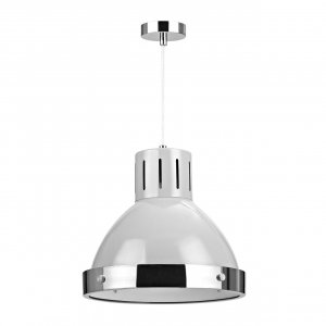 Vermont Flint Grey and Chrome Pendant Light