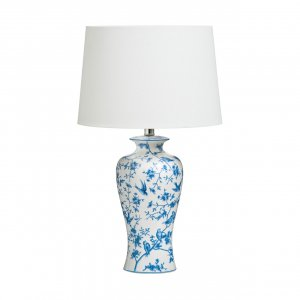 Andromeda Blue and White Ceramic Table Lamp