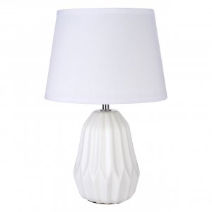 Winslet White Ceramic Table Lamp with White Shade