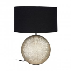 Whisper Gold Ceramic Table Lamp with Black Shade