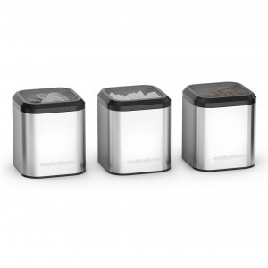 Morphy Richards Set of 3 Canisters Stainless Steel