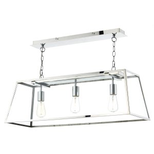 Dar Academy 3 Light Pendant in Stainless Steel