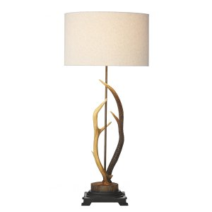 David Hunt Antler Table Lamp Complete with Natural Shade
