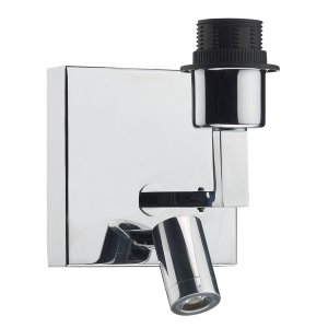 Dar Anvil Wall Bracket with LED in Polished Chrome - Base Only