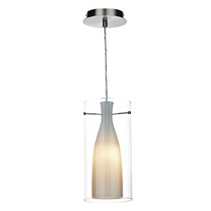 Dar Boda 1 Light Pendant Satin Chrome