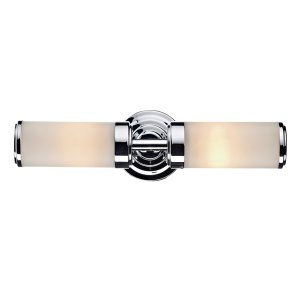 Dar Century Double Wall Bracket Polished Chrome IP44