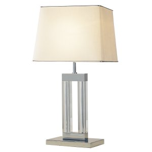 Dar Domain Table Lamp Quartz Glass Complete with Shade